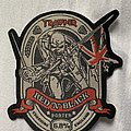 Iron Maiden - Patch - Iron Maiden trooper red n black patch