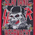 slayer slaytanic wehrmacht woven patch with red rim
