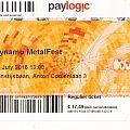 dynamo metalfest ticket 18-07-2015