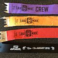 into the grave festival bracelets for friday,saturdags,full festival and crew  2016 aug 12th + 13th