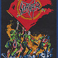 slayer iwo jima 12 collor woven patch ,limited to 100 p,blue rim