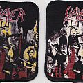 slayer reign in blood  re- printed woven patch vintage look:two differend ones