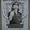 motorhead Lemmy tribute patch misprinted