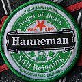 slayer jeff hanneman woven tribute patch = 6 cm =