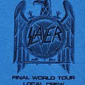 Slayer worker tour shirt 2018 blue