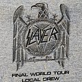 Slayer worker tour shirt 2018 grey