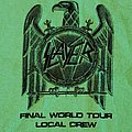 Slayer worker tour shirt 2018 green