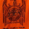Slayer worker tour shirt 2018 orange