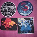 Asphyx, Seance, Obituary, Judas Priest Patches