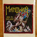 Manowar -- Hail to England (red border) Patch
