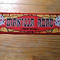 Manilla Road Stripe - red border - approved by Mark Shelton Patch