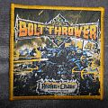 Bolt Thrower - Realm of Chaos official woven patch from Boy Darwaman for Joel.