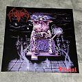 "2015 Necroharmonic/Morbid Wrath gatefold reissue of Crematory's Denial on 12"" lavender & light blue vinyl."