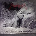"""2014 Hammerheart reissue of Emperor's As the Shadows Rise on etched, single-sided 12"""" black vinyl w/ CD."""