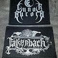 Woven Falkenbach and Lunar Aurora logo patches.