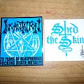 Incantation and Shed the Skin stickers.
