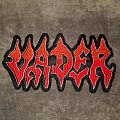 Shaped Vader logo backpatch.