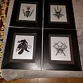 Framed Absu art prints.