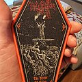 The Black - Patch - Red bordered The Black - The Priest of Satan woven patch