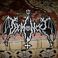 Demoncy shaped logo back patch