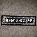 Ornamented woven Angantyr logo patch