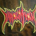 Immolation red & yellow  logo patch