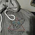 Graveyard women's M hoodie sweatshirt from 2019 peace across the wastelands tour. Grey ls long sleeve