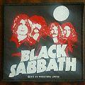 black sabbath band portrait patch black white