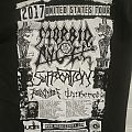 morbid angel Suffocation l m Tour t shirt 2017 b&w Sf recency ballroom w suffocation