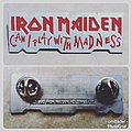 Vintage Iron Maiden 'Can I Play with Madness' Metal Pin Badge