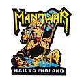 Manowar - Patch - MANOWAR Hail To England Cut Out Woven Patch