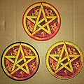 Anthrax Pentagram Round Wove Patch