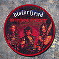 motörhead Round Woven Patch Red Border