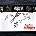 Hellfest post card signed Other Collectable