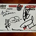 HammerFall - Postcard with Autographs Hellfest 2011