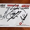 Sodom - Signing Card from Hellfest 2011