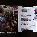 Iron Maiden -  The Final Frontier World Tour 2011 Setlist 04/16/2011 - Ft Lauderdale, Florida Other Collectable