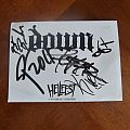 Down - Other Collectable - Down - Postcard autographed at Hellfest 2011