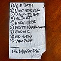 Macabre - Other Collectable - Macabre - Setlist USA tour 2004 with Napalm Death, Cannibal Corpse, Vader &...