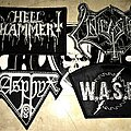 Hellhammer - Patch - Hellhammer, Unleashed, Asphyx, W.A.S.P. - Black N White Patches