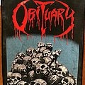 Obituary - Patch - Obituary - Cause of Death / Pile of Skulls Backpatch ©️ 1991 Blue Grape...
