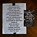 Death - Other Collectable - Death to All  - Full set list 2014 Swamp Leper Stomp