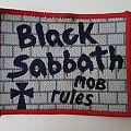 Black Sabbath Mob Rules woven patch