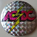 AC/DC Old large button badge Pin / Badge