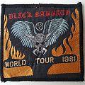 Black Sabbath Original World Tour 1981 patch