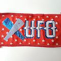 UFO old woven patch
