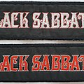 BLACK SABBATH - Original mini strip woven patches