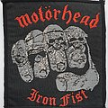 Motorhead Original Iron Fist woven patch