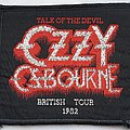 Ozzy Osbourne Original British Tour 1982 woven patch