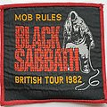 Black Sabbath Mob Rules British Tour 1982 woven patch